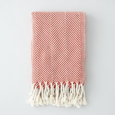 BRAHMS MOUNT Herringbone Cotton Throw ($236) ❤ liked on Polyvore featuring home, bed & bath, bedding, blankets, open red, brahms mount, red bedding, herringbone throw blanket, cotton throw blanket and herringbone throw