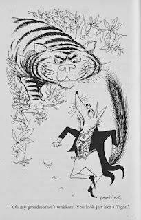 The Tiger In The Wood illustrated by Ronald Searle via Ronald Searle Tribute