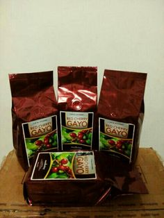 Red Cherry Gayo Arabica Coffee @ 250 gram only IDR 85,000 roasted bean. Indonesia Speciality Coffee.