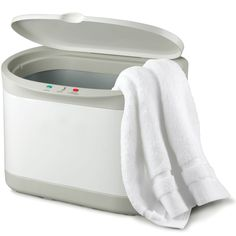 The Personal Towel Warmer - Hammacher Schlemmer. This would be awesome to start before you get in the shower so towel is ready by the time you're done!