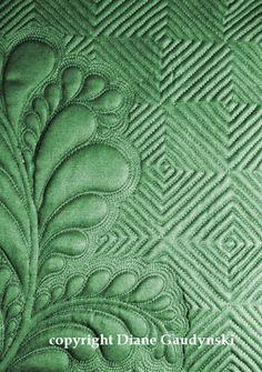 Diane Gaudynski - grid based background stitching