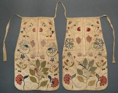Double pocket Place of Origin: United States, North America Date: 1750-1775 Materials: Cotton; Wool; Linen