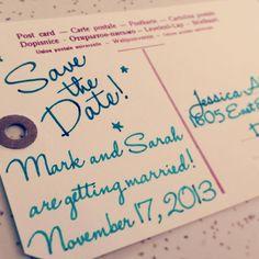 Save the Date postcard www.denverdesignstudio.com