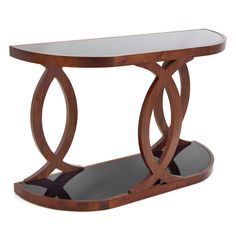 LumiSource Pesce Walnut Bent Wood Console Table -$332