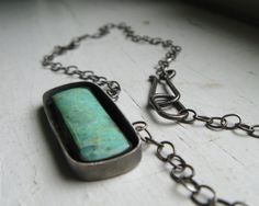 Oxidized Sterling Silver and Chrysoprase by WalkerSilverworks, $170.00