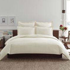 Real Simple® Clip N Zip Duvet Cover in Ivory - BedBathandBeyond.com