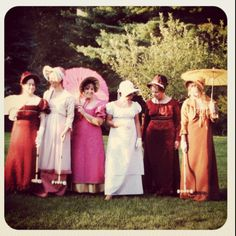 "Jane Austin Tea Party (original pinner said ""my mother and I made the dresses and bonnets""). How fun!"