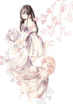Mikoto, Nanami and Koharu