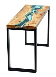 Such cool river tables! Want in my next prairie house.