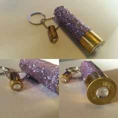 Handmade shotgun shell keychain with glitter & bling Shotgun Shell Wreath, Shotgun Shell Crafts, Shotgun Shells, Bullet Shell Jewelry, Shotgun Shell Jewelry, Bullet Casing Crafts, Bullet Crafts, Bullet Keychain, Diy Keychain