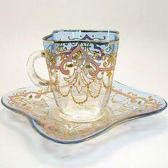 Teapots And Cups, Teacups, Cute Tea Cups, Glass Coffee Cups, Tea Sets Vintage, Tea Accessories, Tea Cup Saucer, Tea Party, Cutlery