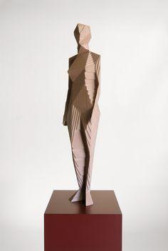 Xavier Veilhan, Untitled (Naked Woman) 2011 ______ See more on: ♥ iheartmyart Abstract Sculpture, Bronze Sculpture, Wood Sculpture, Wall Sculptures, Installation Architecture, Art And Architecture, Geometry Architecture, Xavier Veilhan, Geometric Art