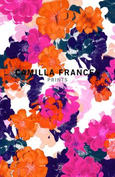 Camilla Frances textile design #prints #art