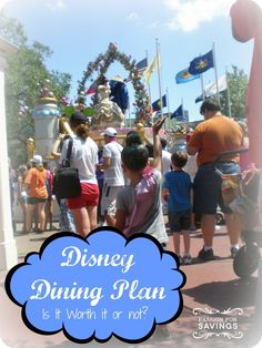 If you are unsure if the Disney Dining Plan is worth it, take a look at the basic breakdown in this post to help you decide!