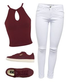"""KATERINA"" by x-nyaaa ❤ liked on Polyvore featuring Miss Selfridge and Puma"