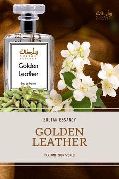 Parfüm Golden Leather Eau de Perfume von Sultan Essancy - Dunkler, geheimnisvoller Lederduft mit einem Hauch von pudrig-cremiger, rauchiger Süße. Parfüm Golden Leather ist ein geradliniges, warm-frisches, blumiges Lederparfüm mit einer angenehmen, dezenten Süße. Duftrichtung: Leder, animalisch, weiße Blüten, warm würzig, Amber Leder Unisex Frauen Männer Bestes Geschenk Geschenkidee Kaufen Verschenken Designerparfüm Designer perfume Abends Parfüm Golden Leather ist ein geradliniges, warm Oriental Fashion, Unisex, Fragrance, Design Inspiration, Beauty, Women, Leather, Woman, Nice Asses