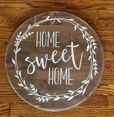 Marvelous Home Sweet Home Round Wood sign Farmhouse Decor Rustic The post Home Sweet Home Round Wood sign Farmhouse Decor Rustic… appeared first on Home Decor .