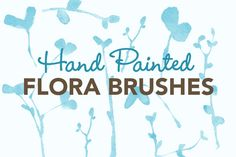 Watercolor Flora Photoshop Brushes by Gemma Evans on @creativemarket