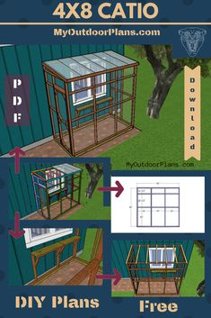 This is a step by step project for you to learn how to build a catio. This catio features a framing, a side door and a lean to roof. Full cut / shopping lists included so you can…Read More→ I Love Cats, Crazy Cats, Outdoor Cat Enclosure, Diy Cat Enclosure, Patio Enclosures, Reptile Enclosure, Diy Cat Tree, Cat Window, Cat Run