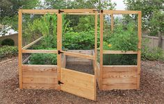 8' x 8' DEER PROOF - FAMILY GARDEN- BACKYARD VEGETABLE GARDEN KIT -looking to expand our raised garden love this idea especially to keep the deer out in the summer and our labs from eating tomatoes!