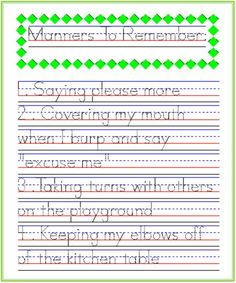 Solomon Press Worksheets Excel Nd Grade Rd Grade Writing Worksheets Addressing Letters  Basic Geometric Figures Worksheet with Current Events Worksheet Template Pdf Good Manners To Remember Handwriting Practice From Startwrite Fact Family Math Worksheets Word