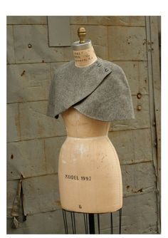 Wish I had this for tonight! Fashion Accessories Wool Caplet No 2 Gray Made to Order by artlab, $178.00