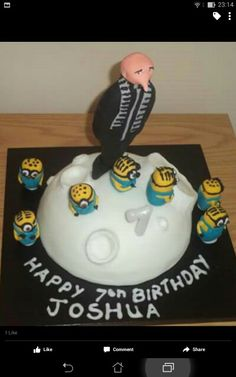 My despicable me cake.