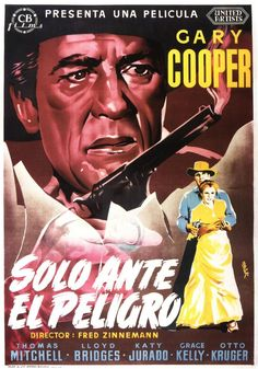 #HighNoon / #SoloAnteElPeligro, 1952, spanish movie poster one sheet, art by #Mcp.