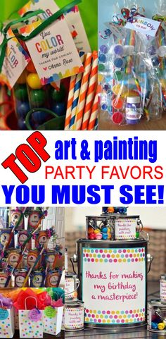 Art And Painting Party Favor Ideas