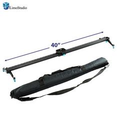 LimoStudio 40Inch Video Stabilization System DSLR Camera Compact Dolly Track Slider, AGG1567
