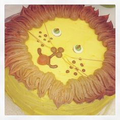 Jungle Birthday Party - Lion Cake
