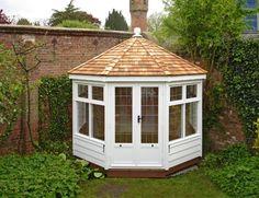 10' x 10' Octagonal Summerhouse - 10' x 10' Octagonal Summerhouse. Painted White. Cedar Shingle Tiled Roof