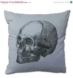 50 OFF Skull Decorative Throw Pillow  by countercouturedesign, $18.00
