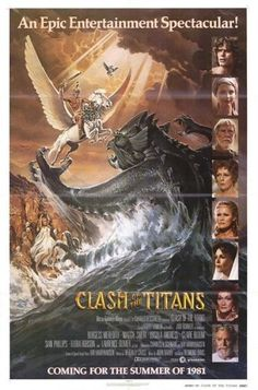 Clash of the Titans (1981)  A film adaption of the myth of Perseus and his quest to battle both Medusa and the Kraken monster to save the Princess Andromeda.  Laurence Oliver, Harry Hamlin, Claire Bloom