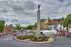 Skipton, England. The market leads right up to the castle.