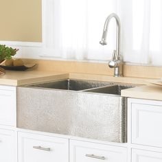 Farmhouse Duet Copper Kitchen Double-Bowled Apron Sink | Native Trails