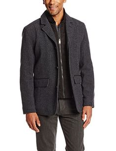 Marc New York by Andrew Marc Men's Harrison Wool Jacket with Micro Suede Bib, Grey/Black, Medium Marc New York by Andrew Marc ++ You can get best price to buy this with big discount just for you.++