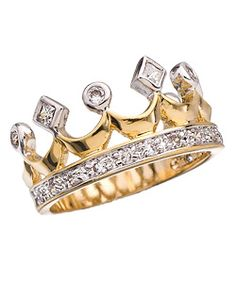 Gold and diamond crown ring :)