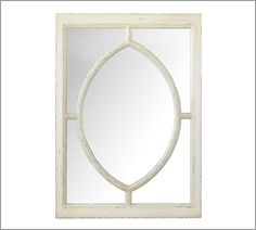 2012:  Bathroom Mirrors? White Observatory Mirror | Pottery Barn NOTE:  Too large for bathroom;   Used on nightstands...even better!