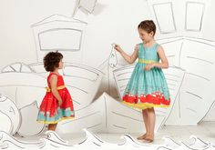 Nautical themes but unautical colours from Poppy kidswear for summer 2014
