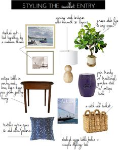 Decorating ideas and tips for styling a small foyer, entryway
