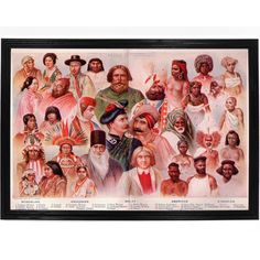 Races of People Digital Art Print