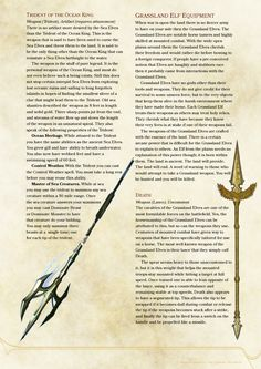 DnD 5e Homebrew — Elven Weapons and Armor by SparkyBard