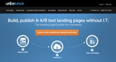 "Unbounce - Hosted landing page and A/B testing platform. https://try.unbounce.com/angie. FREE trial. Pricing starts at $49/mo USD. SAVE 50% off first 3 months with coupon code ""angie"". #LPO #landingpage #CRO #abtesting #leadgen"