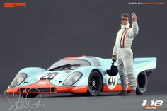 Scale Figures: Steve McQueen LeMans Figure in 1:18 scale