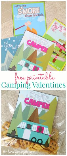 FREE Valentine's Day Vintage Camper Printable Valentines