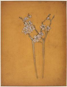 Peigne aux fleurs d'aubépine by Lalique
