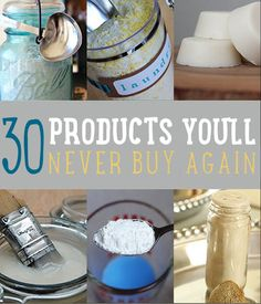 30 Homemade Household Products Hacks | http://homestead-and-survival.com/30-homemade-household-products-hacks-never-buy-these-products-again/