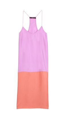 Silk Color Block Cami Dress