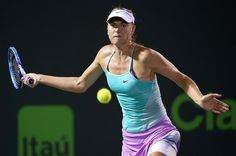 World number two Maria Sharapova crashed out of the Miami Open hardcourt tennis tournament on Thursday, beaten 7-6 (7/4), 6-3 by 97th-ranked Russian wild card Daria Gavrilova.